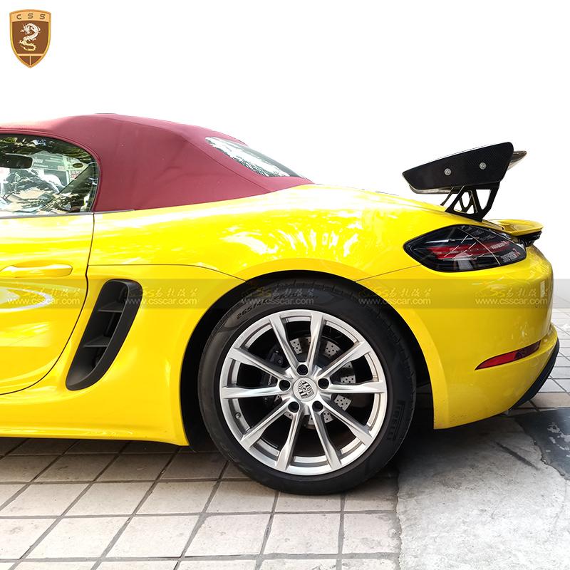 捷豹路虎招聘_718 Boxster改装GT4碳纤尾翼